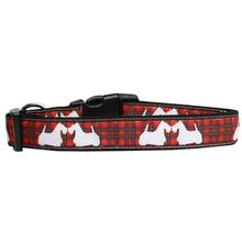 Plaid Scottie Pups Dog Collar - Red