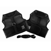 Plain Cool Mesh Dog Harness by Doggie Design - Black