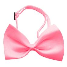 Plain Dog Bow Tie - Bubblegum Pink