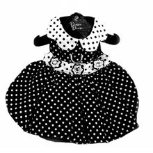Polka Dot Dog Dress by Doggie Design - Black and White