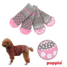 Polka Dot Dog Socks by Puppia - Gray