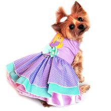 Polka Dot Mermaid Dog Harness Dress