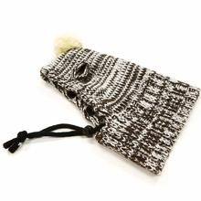 Pom Sweater Dog Hat by Dogo - Brown