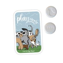 Poochie Bells Dog Breath Mints - Play Nicely Tin