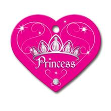 Princess Heart Large Engraveable Pet I.D. Tag