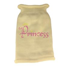 Princess Rhinestone Knit Dog Sweater - Cream