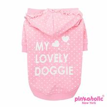 Princesse Hooded Dog Shirt by Pinkaholic - Pink