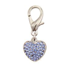 Puffy Heart D-Ring Pet Collar Charm by FouFou Dog - Blue