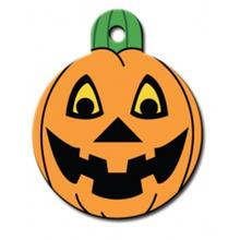 Pumpkin Engraveable Pet I.D. Tag