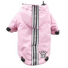Puppagonia Crown Dog Rain Parka by Hip Doggie - Pink