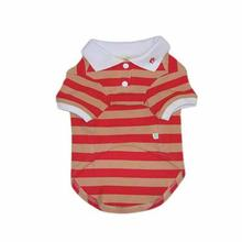 PuppyPAWer Stripe Dog Polo by Dogo - Red