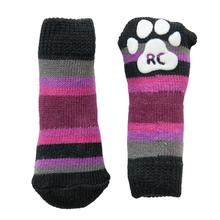 Purple Stripes PAWks Dog Socks