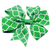 Quatrefoil Dog Barrette - Green