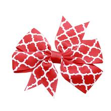 Quatrefoil Dog Barrette - Red