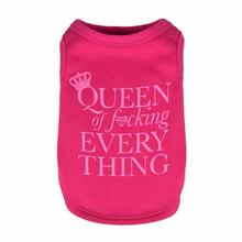 Queen of F*cking Everything Dog Tank by Dogs of Glamour - Pink