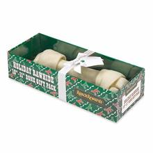 Ranch Rewards Holiday Rawhide Dog Bone Gift Box - 10in. Bone