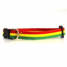 Rasta Stripe Dog Collar