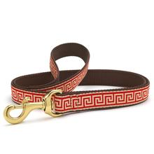 Red Greek Key Dog Leash by Up Country