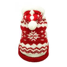 Red Snowflake Dog Hoodie by Hip Doggie
