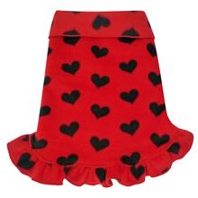 Red with Black Hearts Dog Pullover Dress