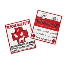 Rescue Our Pets Emergency Decals