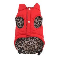 Reversible Leopard Puffer Dog Vest by Hip Doggie
