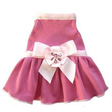 Ribbon Rhinestone Flower Dog Dress