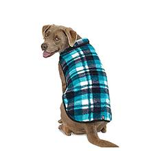 Riley's Plaid Fleece Dog Vest - Blue