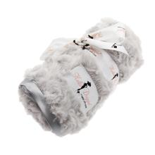 Rosebud Pet Blanket by Hello Doggie - Silver