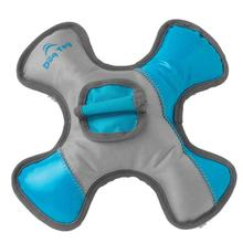 RoughRageous Swirl Dog Toy - Aqua and Gray