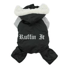 Ruffin It Snowsuit - Black and Gray
