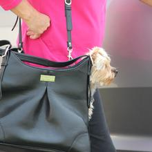 Sadie Mia Michele Black Faux Pebble Leather Dog Carry Bag