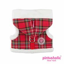 Santa Pinka Dog Harness by Pinkaholic - Checkered Red