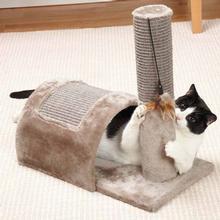 Savvy Tabby Acrobat Cat Scratcher