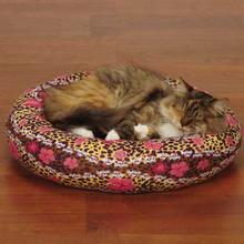 Savvy Tabby Cozy Kitty Skull-fari Cat Bed