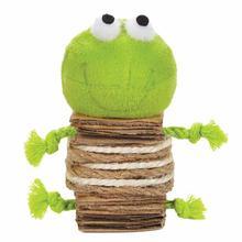 Savvy Tabby Crunchy Catnip Frog Cat Toy -Green