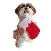 Shih Tzu Sitting Pretty Christmas Ornament - Tan