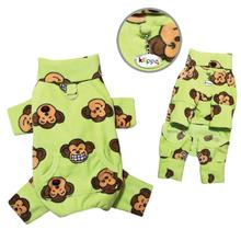 Silly Monkey Fleece Turtleneck Dog Pajamas - Lime