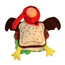 Silly Turkey Sandwich Dog Toy