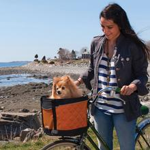 Skybox Bike Basket Dog Carrier by Kurgo - Orange