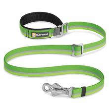 Slackline Adjustable Dog Leash by RufffWear - Meadow Green