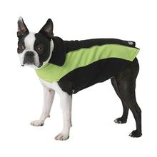 Slater's Fleece Dog Vest - Black and Lime Green