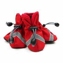 Slip-On Paws Dog Booties by Dogo - Solid Red