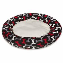 Slumber Pet Fleece Donut Dog Bed - Black Bone