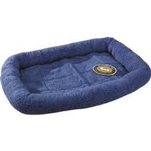 Slumber Pet Sherpa Crate Bed - Slate Blue