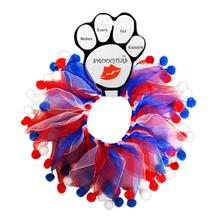 Smoochers Pet Scrunchie - Patriotic Fuzzy Wuzzy
