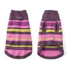 Snuggle Up Dog Sweater - Plum Stripe
