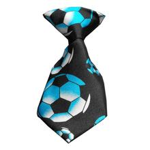 Soccer Dog Neck Tie - Blue
