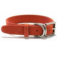 Soft Luxury Dog Collar by Gooby - Red