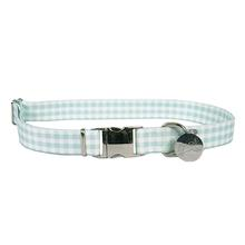 Southern Dawg Gingham Dog Collar by Yellow Dog - Mint